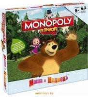 Монополия - Маша и Медведь Junior, Hasbro 1115 - Minsktoys.by