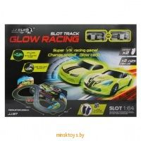 Автотрек Glow Racing, 34 детали, Y255395 - Minsktoys.by
