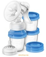 Ручной молокоотсос Philips Avent серии Natural c контейнерами SCF330/13 - Minsktoys.by