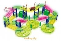 Автотрек светящийся HAPPY TRAIN, 888-314 - Minsktoys.by