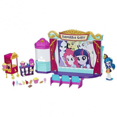 Набор мини-кукол Equestria Girls 'Кинотеатр' My Little Pony Hasbro C0409 | minsktoys.by