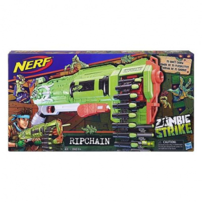 Бластер Нерф Зомби - Цепевик Hasbro Nerf E2146 - интернет-магазин игрушек Minsktoys.by