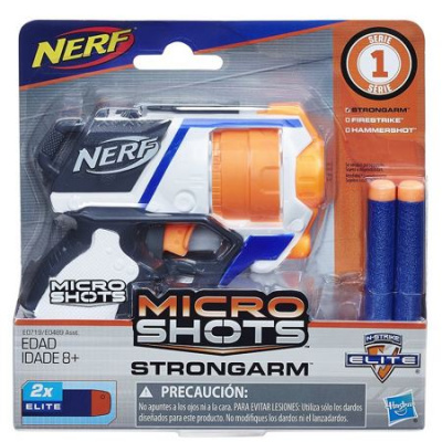 Бластер Nerf 'Стронгарм' Microshots и 2 патрона Hasbro E0489 | minsktoys.by